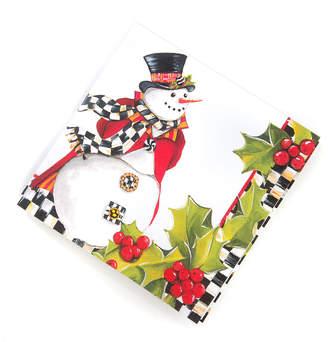 Mackenzie Childs MacKenzie-Childs Top Hat Snowman Paper Cocktail Napkins, 20 Pack