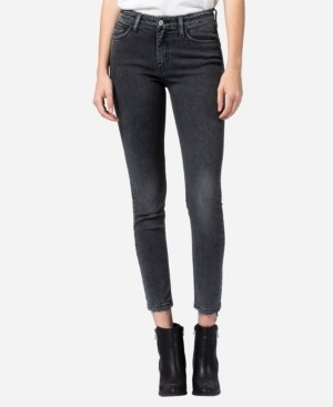 Flying Monkey Mid Rise Skinny Ankle Jeans