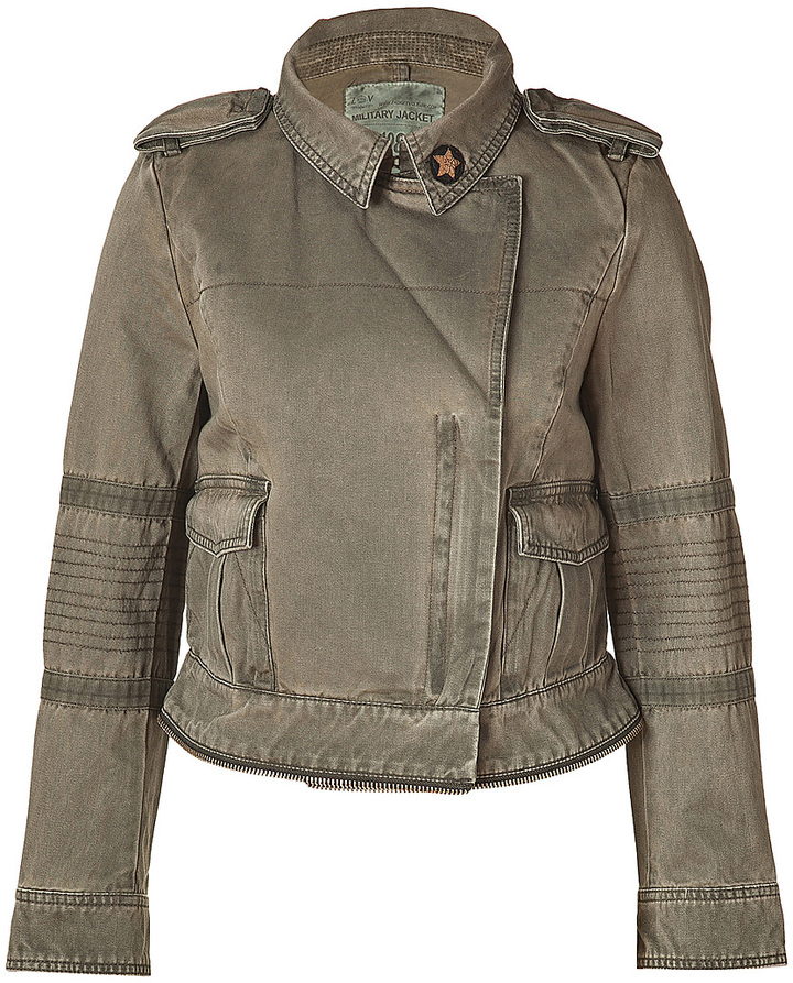 Zadig & Voltaire Army Green Cotton Jacket