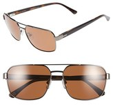 Ted Baker Men's 59Mm Polarized Navigator Sunglasses - Gunmetal