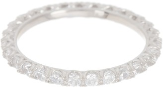 Silver Mama Sterling Silver CZ Eternity Band Ring - Size 7