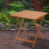 Davian Folding Wooden Bistro Table Union Rustic