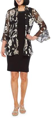 Scarlett 3/4 Bell Sleeve Embellished Jacket Dress