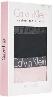 Calvin Klein Kids Cotton Bikini Briefs (Pack Of 2) (8-12 Years)