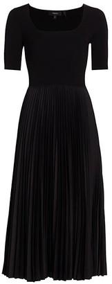 Theory Ribbed Pleated Dress