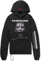 Vetements + Rammstein Oversized Printed Cotton-Blend Jersey Hoodie