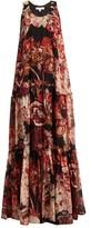 Elizabeth and James Izzie floral-print silk maxi dress