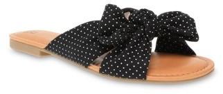 Time and Tru Polka Dot Bow Slide Sandal (Women's)