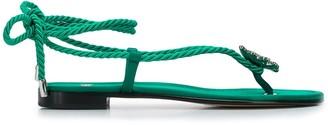 ALEVÌ Milano Open Toe Braided Strap Sandals