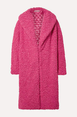 Alice + Olivia Ora Oversized Faux Shearling Coat - Bright pink