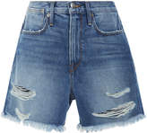 Frame Le Stevie High-Rise Denim Shorts