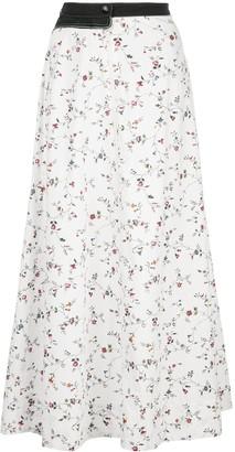 Marine Serre Floral-Print Maxi Skirt