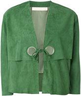 Drome cropped eyelet jacket - women - Goat Skin/Acetate/Cupro - L