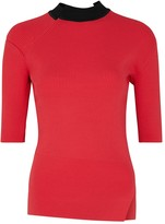 Eudon Choi Fonteyn hot pink ribbed jumper