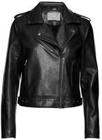 B. Young Apia Faux Leather Moto Jacket