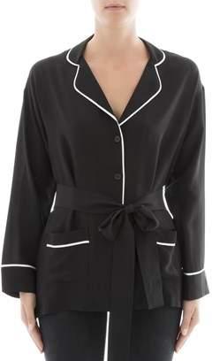 Gold Hawk Women's Black Silk Jacket