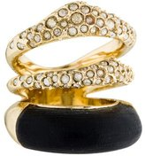 Alexis Bittar Lucite & Crystal Three-Band Ring