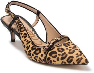 Sam Edelman Denia Genuine Dyed Calf Hair Leopard Print Pump