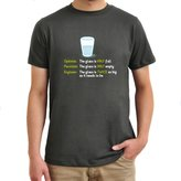 Eddany Optimist pessimist engineer glass problem T-Shirt