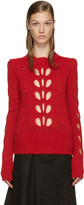 Isabel Marant Red Cut-Out Ilia Sweater