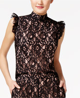 SHIFT Juniors' Lace Ruffled Top, Only at Macy's