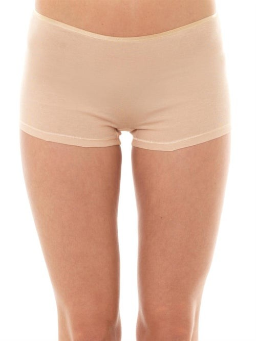 Thumbnail for your product : Hanro Seamless Cotton Boy-short Briefs - Nude
