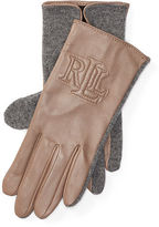Ralph Lauren Two-Tone Touch Screen Gloves