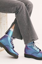 Dr. Martens 1460 Pascal Croc Boots by at Free People, Blue, US 7
