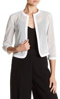 Anne Klein Faux Leather Cardigan