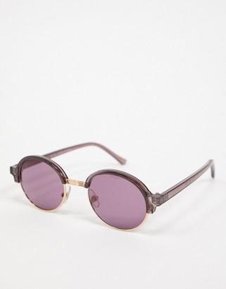 Topman overal retro sunglasses in purple
