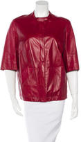 Akris Short Sleeve Leather Jacket