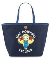 Love Moschino Top-Handle Leather Tote