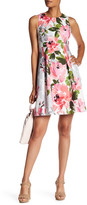 Vince Camuto Printed Sleeveless Fit & Flare Dress