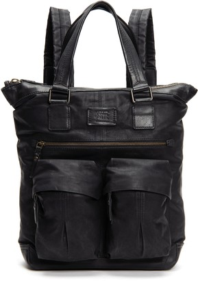 Frye Scout Tall Canvas & Leather Backpack