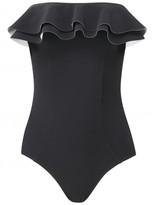 Lisa Marie Fernandez SABINE BLACK DOUBLE RUFFLE MAILLOT