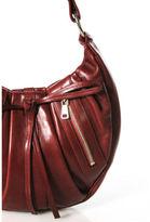 Saint Laurent Dark Red Leather RG Classic Pleated Hobo Shoulder Handbag