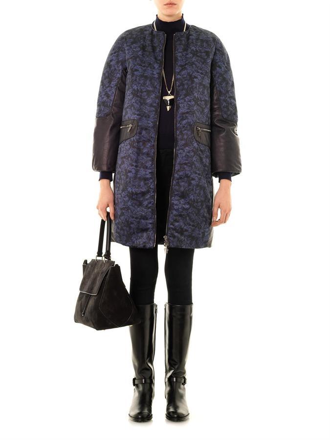 Moncler M Boom failette-print down coat