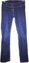 Plein Sud Jeans Blue Cotton - elasthane Jeans for Women