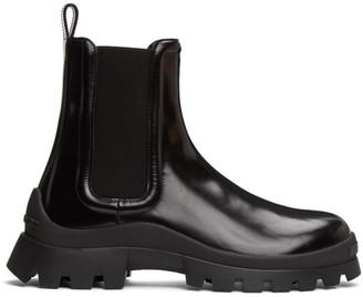 DSQUARED2 Black Tank Rain Chelsea Boots