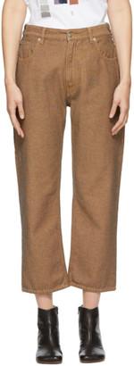 MM6 MAISON MARGIELA Beige Dyed Jeans