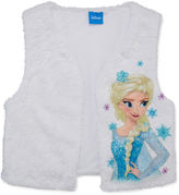 FROZEN Disney Frozen Faux-Fur Elsa Vest - Girls 7-16