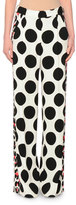 MSGM Polka-Dot Wide-Leg Pants, Black/White