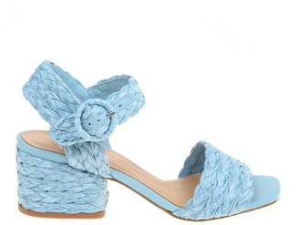 Paloma Barceló sandal In Braided Raffia Color Blue