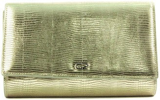 Giuseppe Zanotti Gold-tone Lizard-print Leather Cross Body Bag