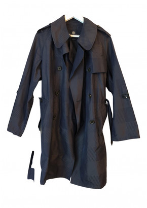 Aquascutum London Navy Polyester Trench coats