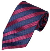 Fashion-on FAA2001 Blue Violet Red Striped Work-Utility Presents Silk Mens Necktie Great Gift Ideas By FashionOn