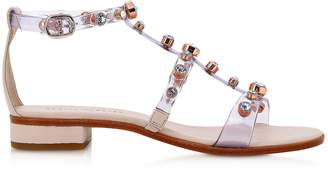 Sophia Webster Dina Gem Dusty & Pastel Vinyl Flat Sandals