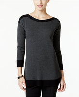 Cable & Gauge Contrast-Trim Sweater, Only at Macy's