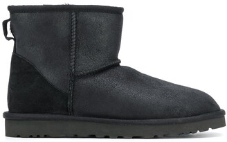 UGG Mixed-Panel Ankle Boots