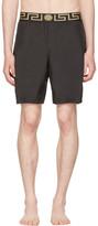 Versace Underwear Black Medusa & Greek Key Swim Shorts